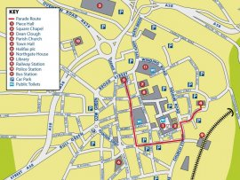 Map of 2016 Yorkshire Day Parade Route