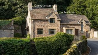 The exterior of Abbey Cottage and Abbey Stores nr Ripon, Yorkshire © Chris Lacey