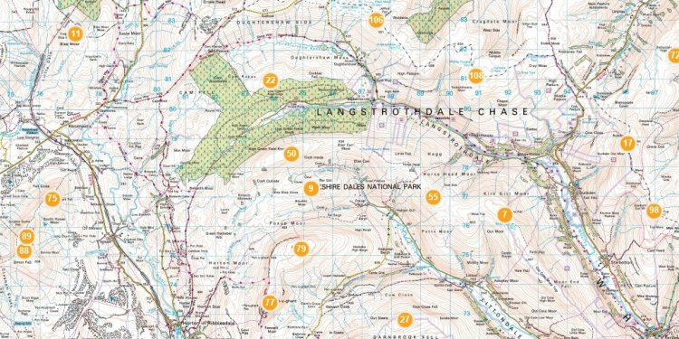 Map of the Dales